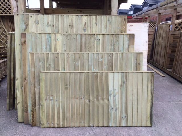first image for Heavy Duty Vertilap close boarded fence panel