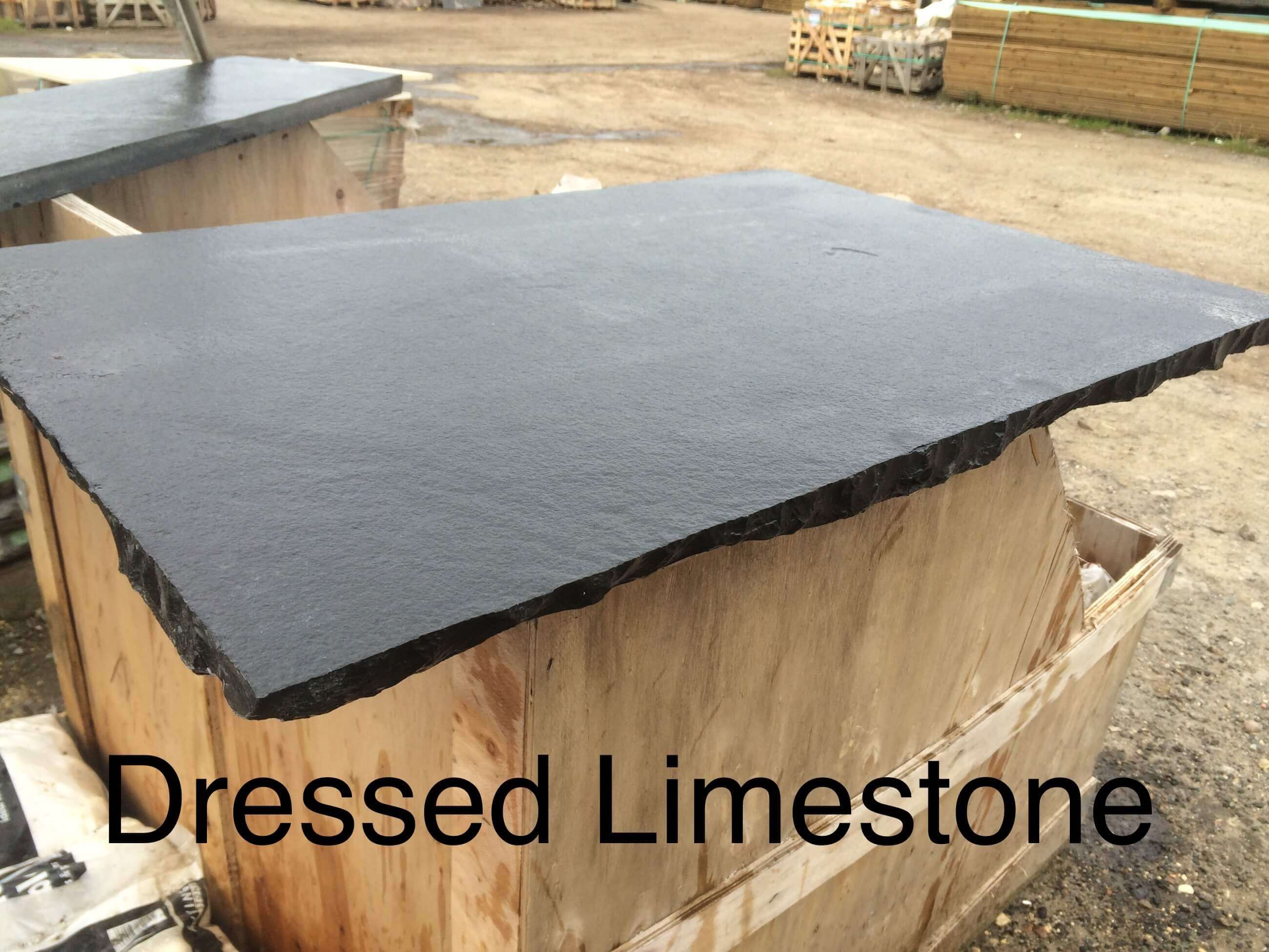 first image for Black Limestone Hearth Slab