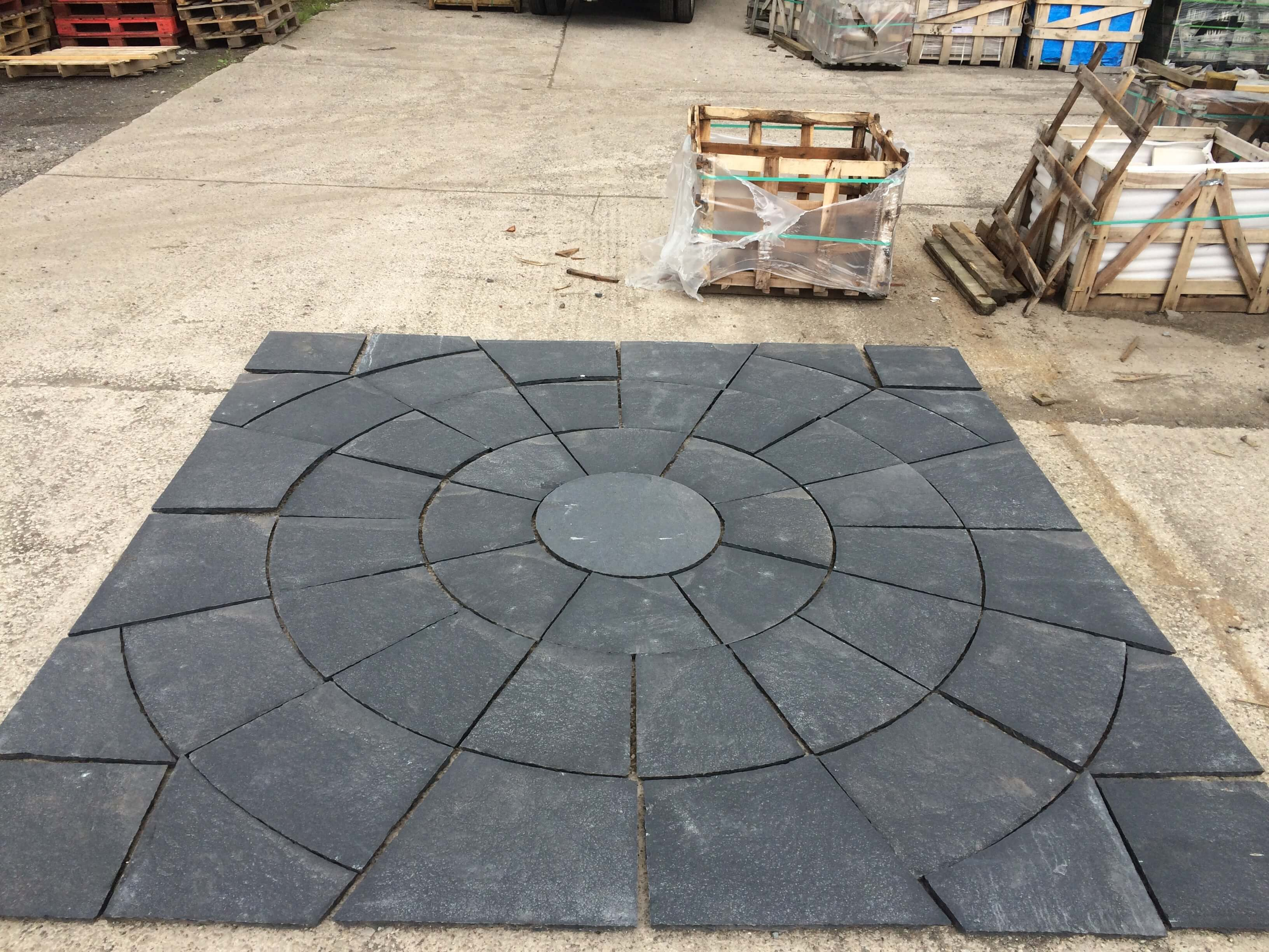 Second image for Black limestone circle kit (squared off)