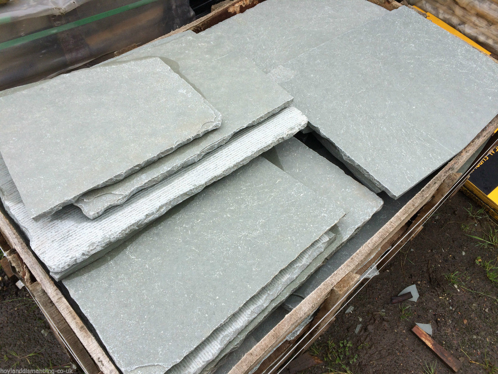 first image for Blue limestone crazy paving