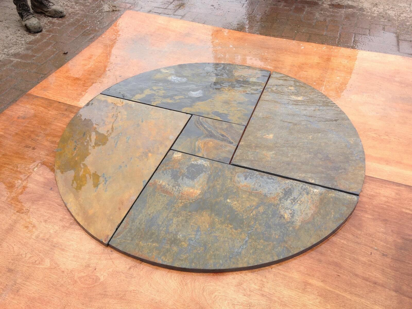 Second image for Rustic Slate Circle 1.8m x 1.8m