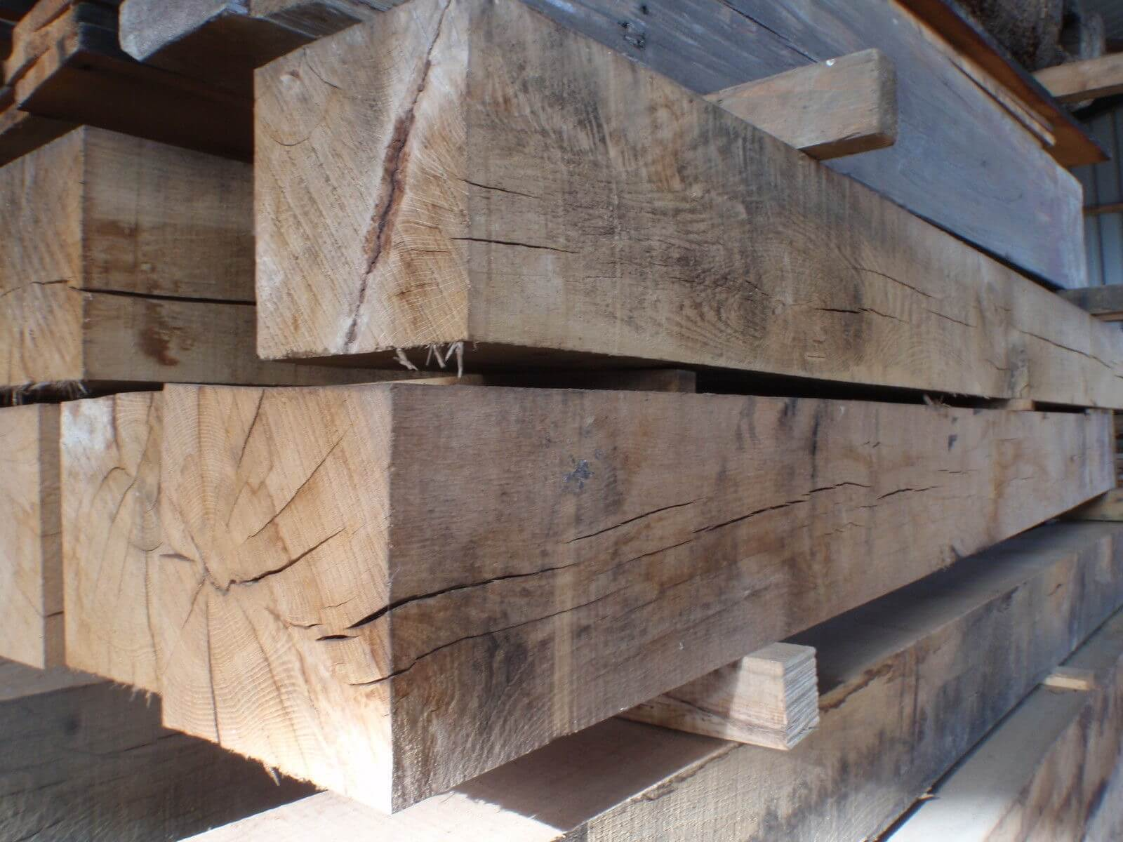 first image for Air dried oak beams