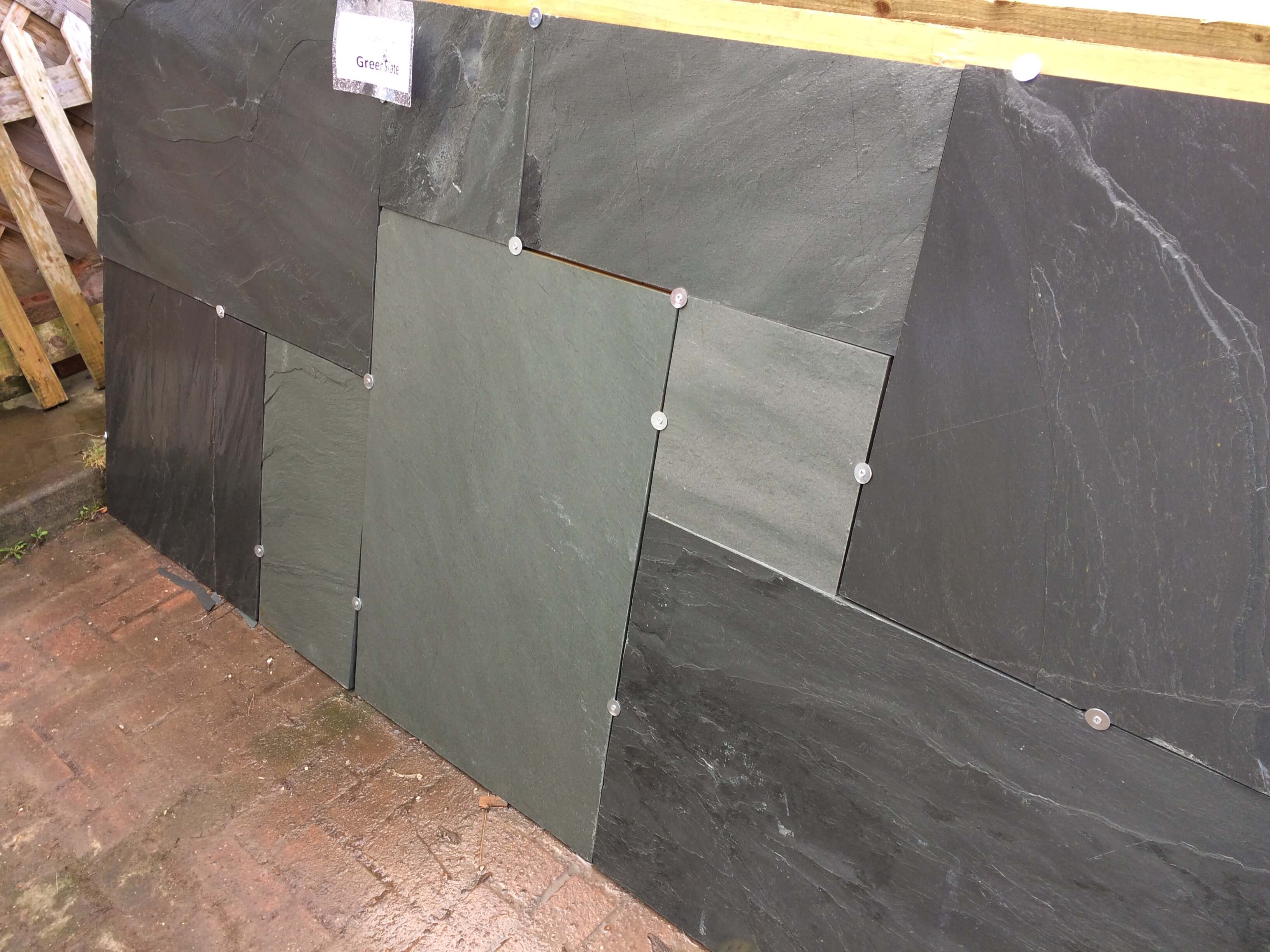 first image for Green slate paving
