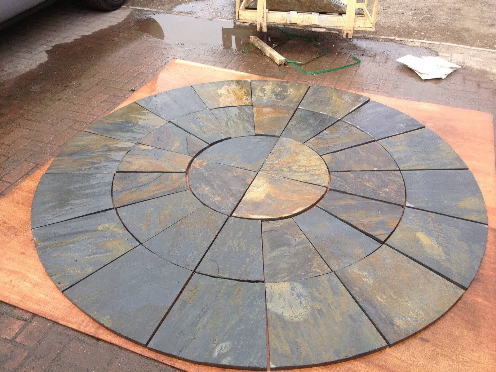 Second image for Rustic Slate Circle 2.4m