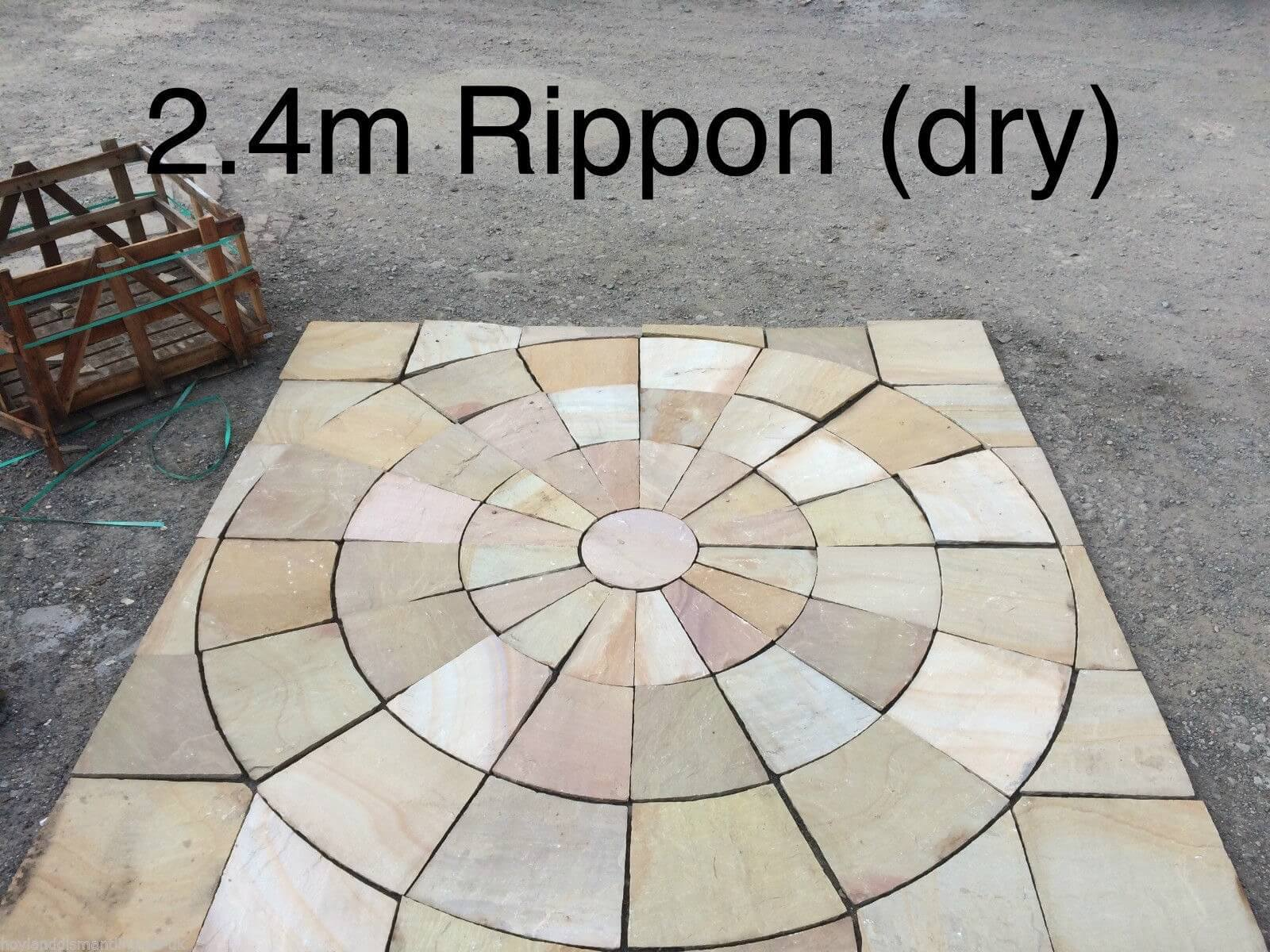 Second image for Rippon Buff Paving Circle