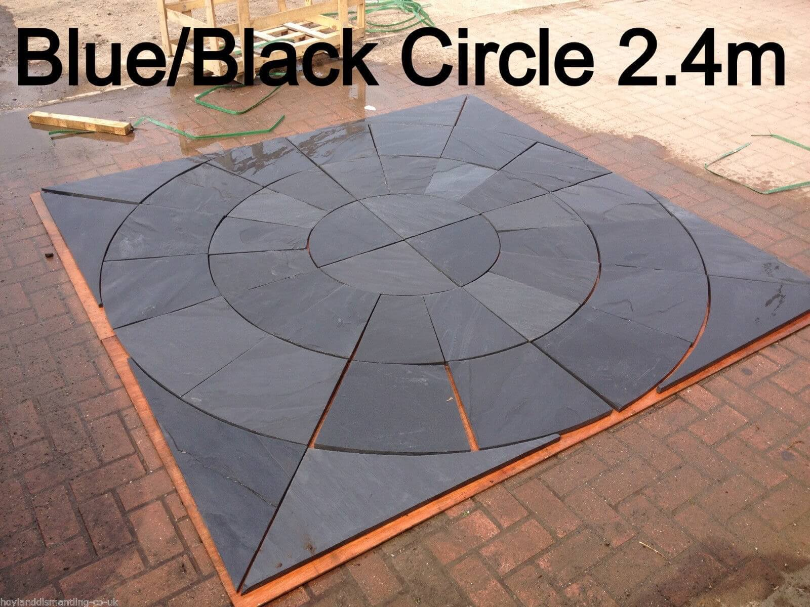 first image for Blue / black slate circle 2.4m