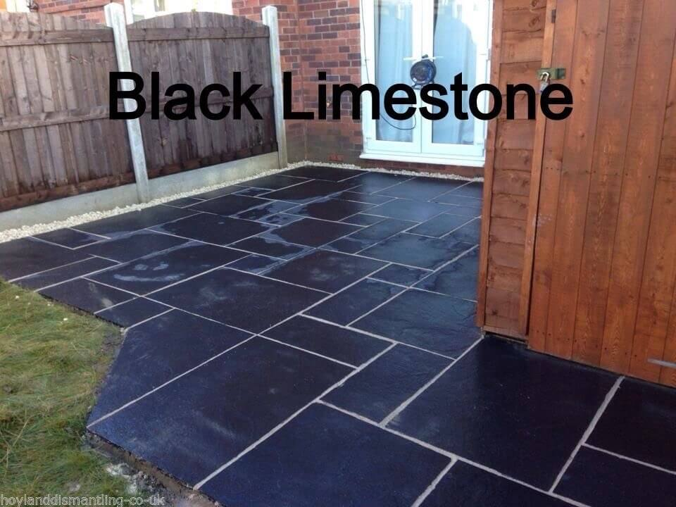 first image for Premium Black limestone paving