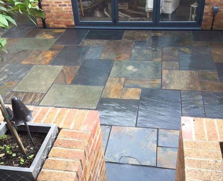 first image for Rustic-Multi random Slate Paving