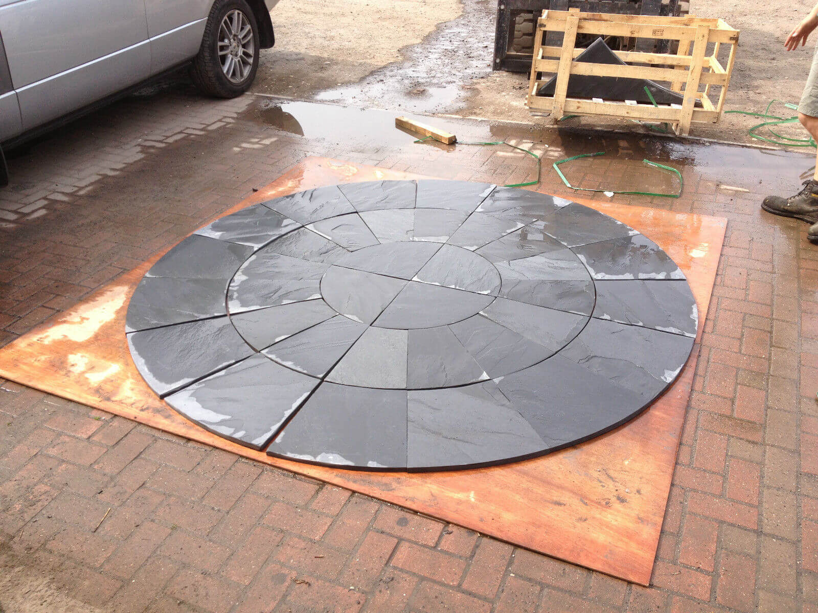 Second image for Blue / black slate circle 2.4m